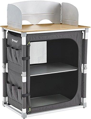 Outwell Padres XL Küchentisch Mit Bambustischplatte, Mehrfarbig, 100x49x82 cm