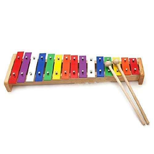 Henan Klavier aus Aluminium mit 15 Klängen, für Kinder, frühkindliche Bildung, Klavier