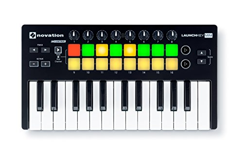 Novation Launchkey Mini MK2 - tastiera/keyboard controller da 25 tasti con 16 pad 8 knob per PC e MAC