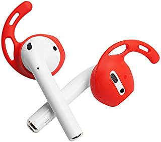 DamonLight Ear Hooks and Covers Earbuds Covers Anti-Slip Ear Tips Silicone Compatible with Apple AirPods or EarPods Headph...