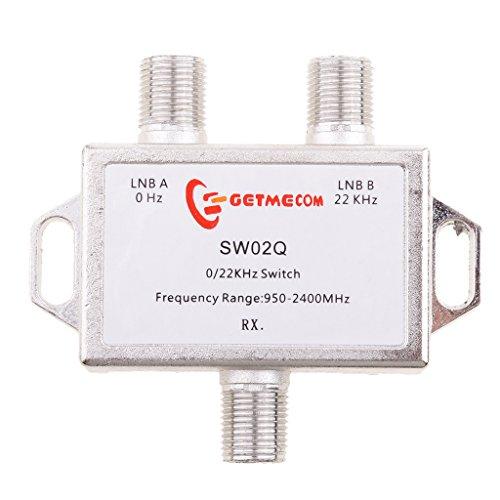 MonkeyJack 2x1 Premium DiSEqC Satellite Switch FTA Dish Multi LNBS LNBF Switch For Satellite Receiver 22KHZ