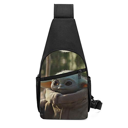 Star War Yoda Baby Sling Bag/Crossbody Chest Backpack/Shoulder Bags for Men Women Travel Hiking Cycling Casual Daypack