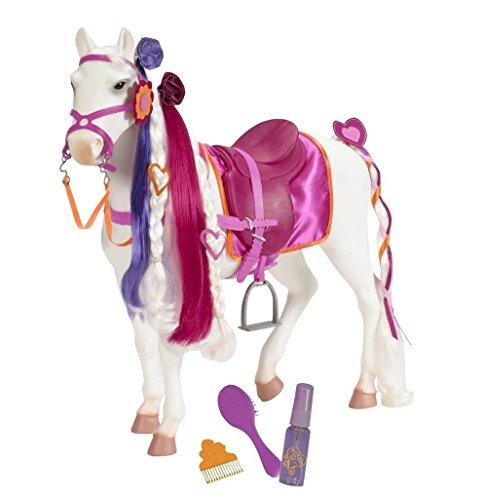 Our Generation 44287 - Camarillo paardenstrengen, wit/roze