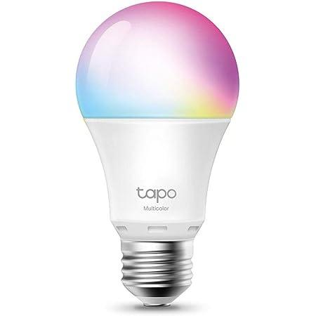 TP-Link TAPO L530E - Bombilla LED Inteligente, Bombilla WiFi Multicolor, Regulable, E27, 8.7 W 806lm, Compatible Alexa, Echo y Google Home,