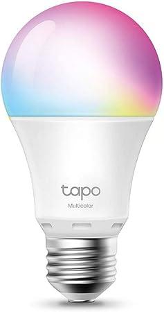【NUEVO】TP-Link - Bombilla LED Inteligente, Bombilla WiFi, Multicolor, Regulable, E27, 8.7W 806lm, Compatible Alexa, Echo y Google Home, [Clase de eficiencia energética A+] (Tapo L530E)
