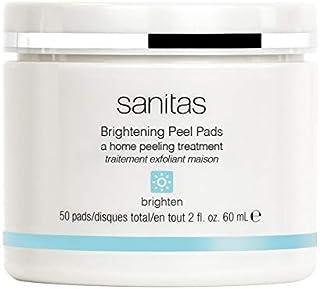 Sanitas Skincare Brightening Peel Pads, Home Peeling Treatment, 50 pads / 2 Ounces