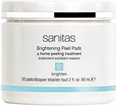 Sanitas Skincare Brightening Peel Pads, Home Peeling Treatment, 50 pads / 2 Ounces
