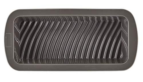 einfach backen Kuchenform aus Platin-Silikon – Rechteckige Backform ca. 27cm lang – Kastenform antihaft- und temperaturbeständig – Anthrazit