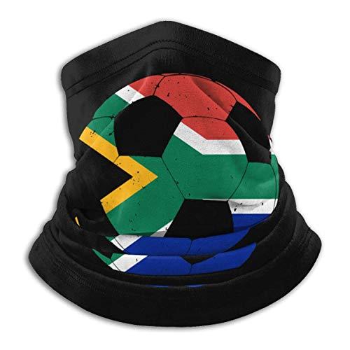 NA Zuid-Afrikaanse Vlag Voetbal Voetbal Mannen Dames Gezichtsmasker Winddichte Nek Hoofddeksels Voor Snowboarden