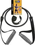 GoFit Resistance Power Tubes/Bands - Resistance Training Workout 20 lbs. - Black