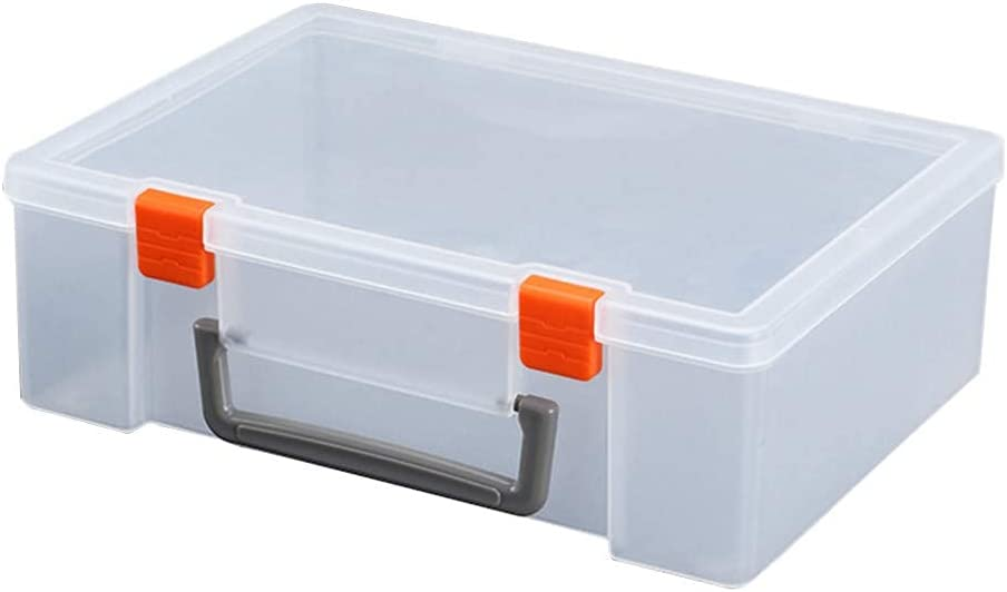 LIXBD Plastic Storage Bin Max 46% OFF Indefinitely Sturdy Rectangular Transparent
