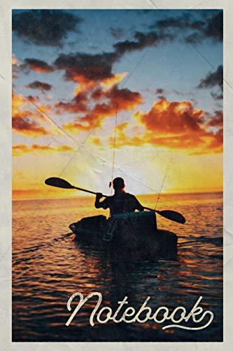 Notebook: Sea kayak tour Petite Composition Book Journal Diary for Men, Women, Teen & Kids Vintage Retro Design Canoeing Near Me