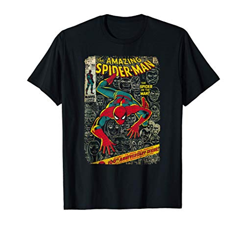 Marvel Spider-Man Comic Book Anniversary Graphic T-Shirt T-Shirt