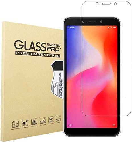 HongMan [3 Stück] Panzerglas Folie für Xiaomi Redmi 6A Schutzfolie, Bildschirmschutzfolie Mit Frei von Fingabdrücken & Öl, 9H Festigkeit, 0,26mm Ultra-klar, Anti-Bläschen, Anti-Kratzen [2.5D R&e Kante]