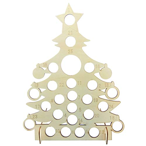 N/A Home For Christmas Madera tabla de cuenta regresiva calendario recordatorio tarjeta de chocolate exhibición estante