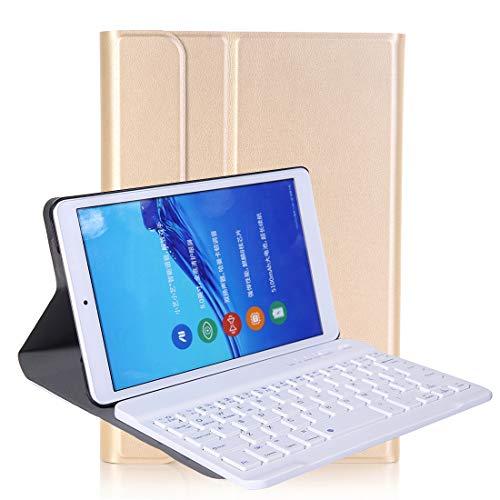 JIANGHONGYAN Accesorios para PC de la Tableta A0T8 para Huawei Matepad T8 8 Pulgadas ABS Ultra-Thin Setagle Teckable Teclado Teclado PU Funda Protectora de Cuero con Soporte