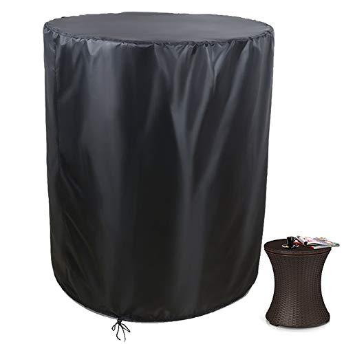 Saking Patio Cool Bar cubierta de mesa lateral, diseñado para Keter 7.5 galones enfriador y contenedores de bebidas de café al aire libre (redondo, 21 pulgadas de diámetro x 23 pulgadas de alto