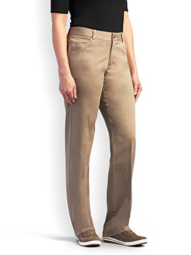 Lee Damen Petite Midrise-Fit Total Freedom Hose - Beige - 36/Zierlich