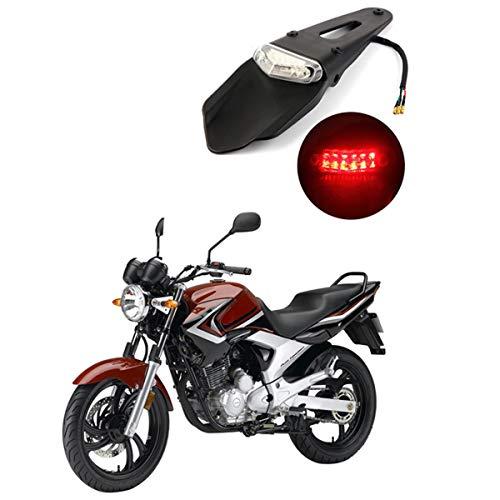 HANEU Guardabarros Trasero Con Luz Trasera De Freno LED Para Motocicleta De Motocross, Enduro, Todoterreno (Lens Transparent)
