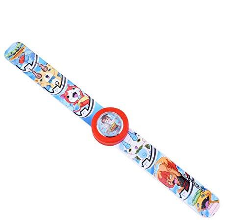 BSD Orologio da Polso per Bambini - Yo-Kai Watch - Orologio da Polso con Slap Bracelet - Rosso