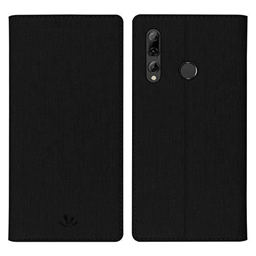 Simicoo Huawei P Smart Plus 2019 Leder Tasche Flip Schutzhülle Standfunktion Kartenfach Magnetverschluß Card Holder TPU Wallet Handyhülle für P Smart 2019 Nova 4 lite (Black)