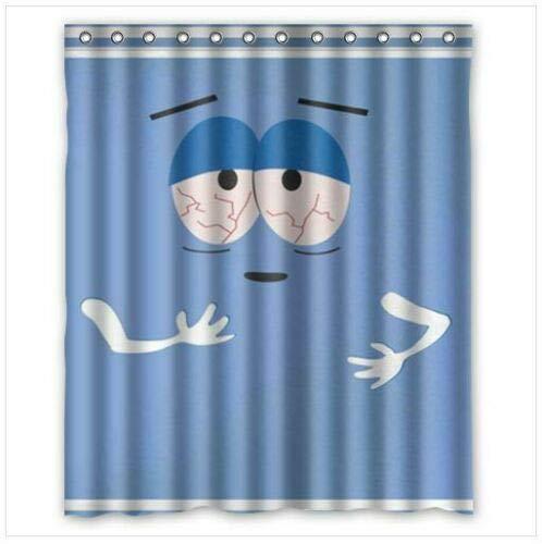 FANG2018 Neuer Artikel Handtuch South Park Duschvorhang Größe Badezimmer Duschvorhang strapazierfähiges Stoffzubehör kreativ mit 12 Haken 180X180CM