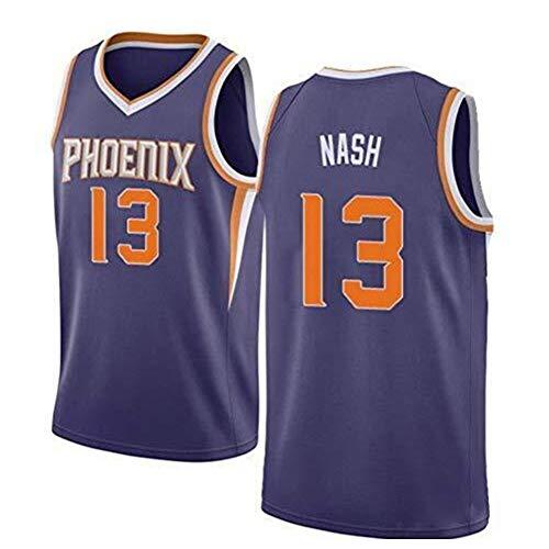 Zyf Camiseta Baloncesto Retro Jersey, 13 Steve Nash, Camisa Fresca Transpirable Baloncesto, Chaleco, Camiseta, Patrón De Tamaño XS-XXL (Color : B, Size : L)