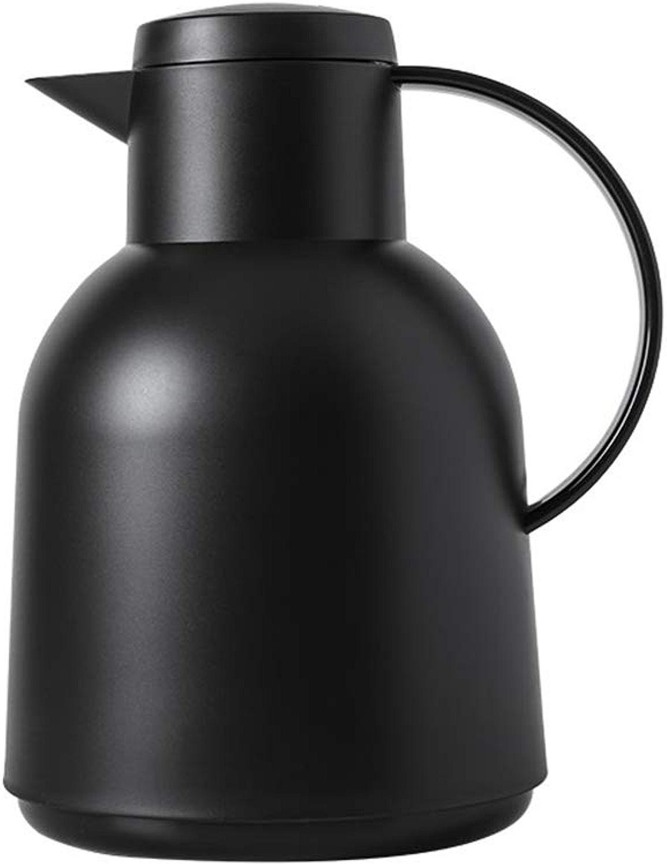 voitureafe à café en acier inoxydable Thermos voitureafe Thermos avec bouton-poussoir plongeur isolé à double paroi - Maincravaten de la chaleur de 12 heures,noir