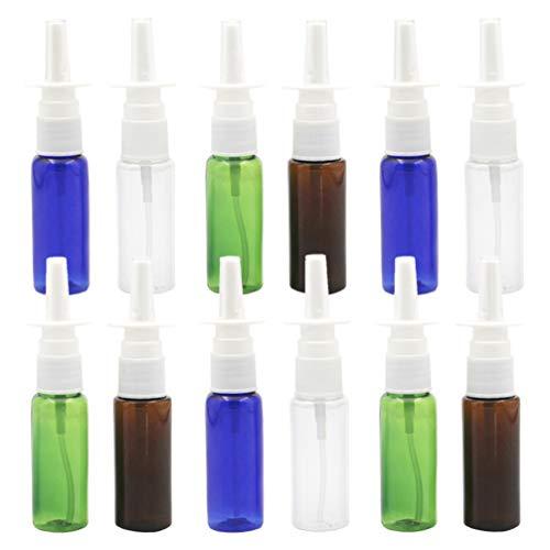 EXCEART 12 Pcs Flacon Pulvérisateur Nasal Rechargeable Vide Nasal Applicateur Distributeur Pulvérisateur Conteneur Voyage Rhinite 20 ML