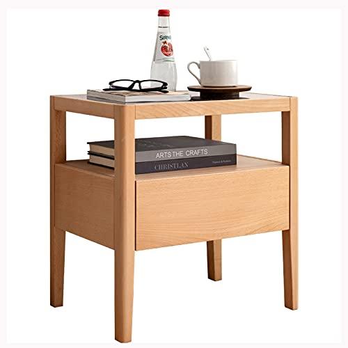 liushop Mesillas de Noche Mesa Moderna de mesitas de mesas de Alquiler de mesas de 2 Niveles - Mesa de Noche multifunción para Sala de Estar y Dormitorio Burós