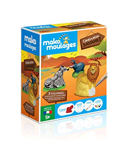 mako moulages- Destination Savane 3 moules Kit Créatif, 39059