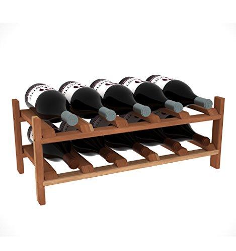 "Creekside Magnum 10 Bottle Modular Wine Shelf, 12"", Pine"