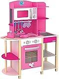 Woodyland 91311 - Spielküche Trendy Deluxe mit viel Zubehör aus Holz