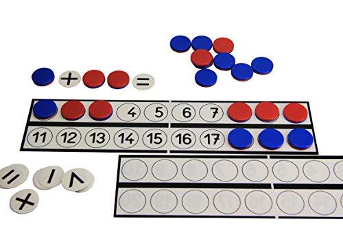 WISSNER 080813.000 aktiv Lernen-Schüler Rechenleiste mit 22 Wendeplättchen und 10 Rechenzeichen-RE-Plastic, Mehrfarbig