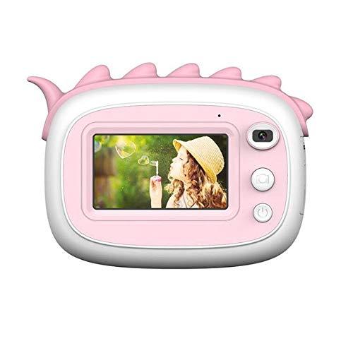 XinQing-niños cámara Frente 2800W for Imprimir térmica Digital y Regalo Educativo del Juguete de la cámara Trasera Dual de Las cámaras Recargable de niños (Bundle : 32G, Color : Pink)