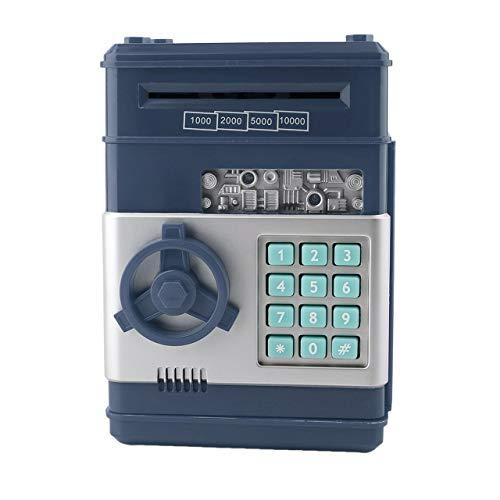 7Colors Kinder E-Geld-Safe Passwort Sparkasse ATM für Münzen und Banknoten-Code Schlüsseletui-System Geld sparen Box (dunkel) DEjasnyfall