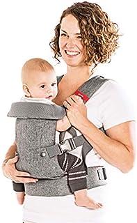 You+Me Portabebés convertible 4 en 1 con malla de aire frío 3D – Gris Heather – Llévate con un recién nacido de tan pequeña como 8 libras y bebés de hasta 32 libras