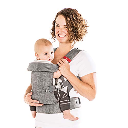 YOU+ME 4-in-1 Ergonomic Baby Carrier, 8-32 lbs (Grey Mesh)
