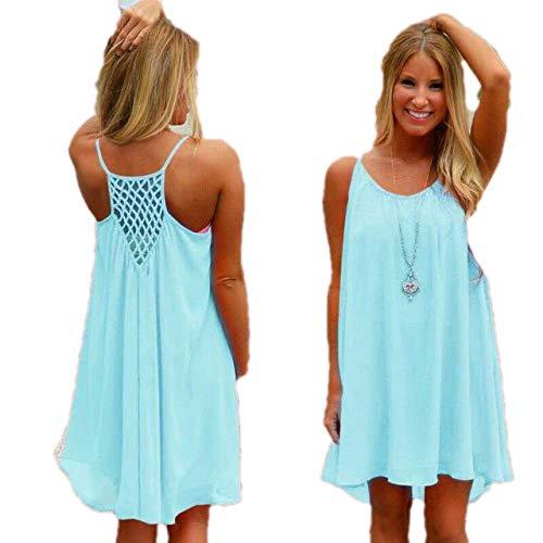nobrand Frauen Kleid Fluoreszenz weibliches Sommerkleid Frauen Chiffon Voile Frauen Kleid Sommer Stil Frauen Kleidung Plus Größe