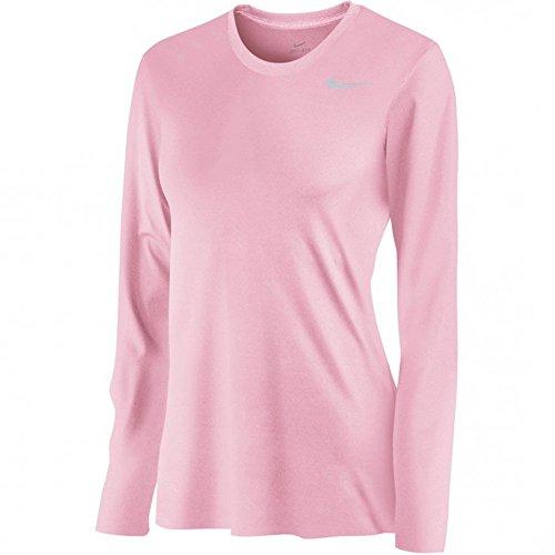 Nike Womens Dri-Fit Fitness Workout T-Shirt (Shy Pink, X-Large)