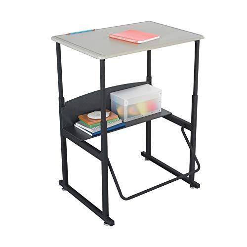"""Safco Products AlphaBetter Adjustable-Height Desk, , 28"""" x 20"""" Standard Desktop, Swinging Footrest Bar"""