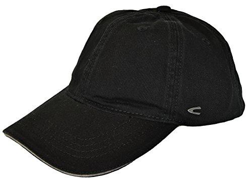 camel active Herren Basecap Mütze 6-Panel-Cap Base Cap Kappe Baseball Cap div. Farben (L (58-60), schwarz)