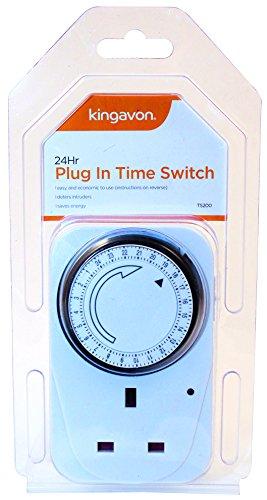 1 x 24 uur hoofdplug in timer switch timer klok socket Uk 3-pins Lights