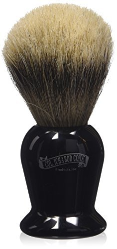 Colonel Conk Products 920 Silver Tip Badger Brush with black Handle by \