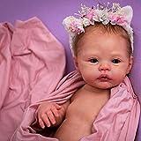 NAIXUE 17 pulgadas Reborns Doll Kit sin pintar bebé muñeca Kit con cabeza completa extremidades y paño corporal, hecho a mano molde conjunto DIY realista juguete para niños