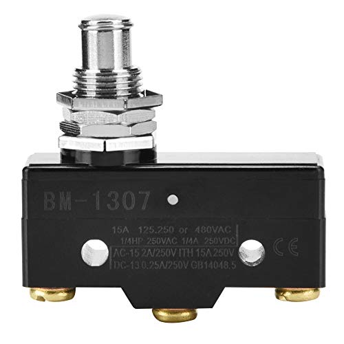 Microinterruptor, interruptor momentáneo, interruptor de límite de 1 pieza, contactos plateados de acción rápida, 250 V, BM-1307, BM-1308(BM-1307)