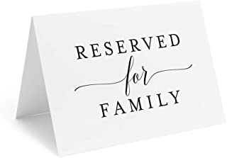 Bliss Collections Reserved Signs for Wedding Reception, 4x6 Reserved Table Cards, Table Setting Cards, Pack of 10