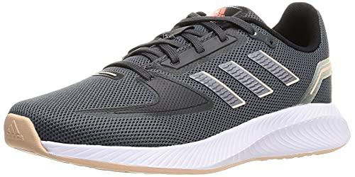 adidas Runfalcon 2.0, Road Running Shoe Mujer, Grey/Iron Metallic/Solar Red, 40 EU