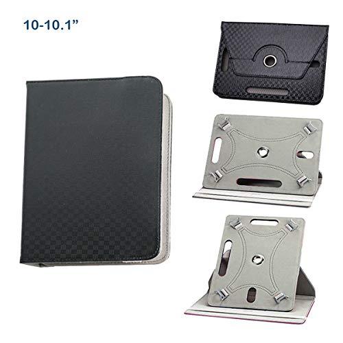 BEISK, Funda Universal para Tablet de 10-10.1 Pulgadas, con Sistema Giratorio de 360º, Rotación, Protección, con Soporte, para Huawei Mediapad/Samsung Galaxy Tab/iPad/Lenovo TAB4 10, Etc. Color Negro…