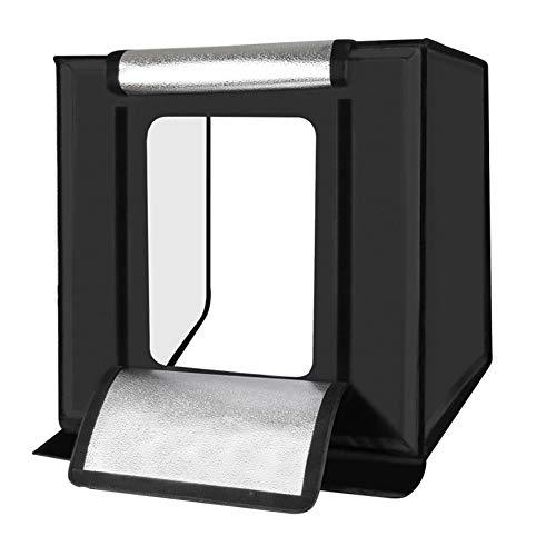 40cm plegable portátil 30W 5500K luz blanca Foto Iluminación del estudio de disparo Carpa Box Juego de luces de iluminación Foto Estudio de fotografía Tienda Kit Box con 6 colores Backdrops,40cm